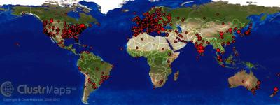 Blog Cluster map