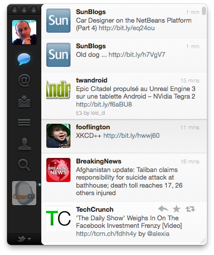 Twitter 2.0 Mac Application screenshot