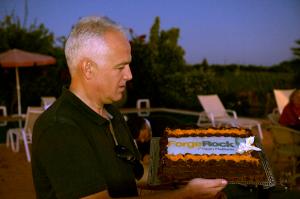 ForgeRock cake presented by Hermann, VP of Sales