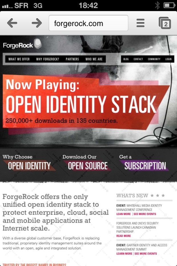 ForgeRock.com website
