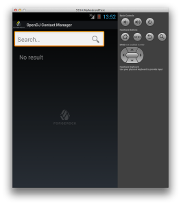 OpenDJ Contact Manager Android App